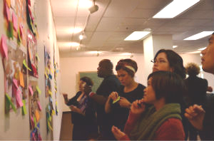 The Gila Rut team outlining their cultural commandments