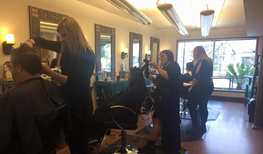 Atelier Salons team at work.