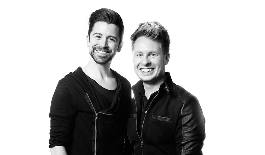 Mark Walker and Matthew Biskey, co-owners of Shear Rituals Salon and Beauty Bar in Bradenton, Florida.