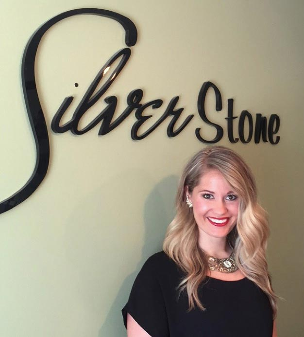 Kayla Byford, owner of Silver Stone Salon and Spa, an Aveda Concept salon in Hartselle, Alabama.