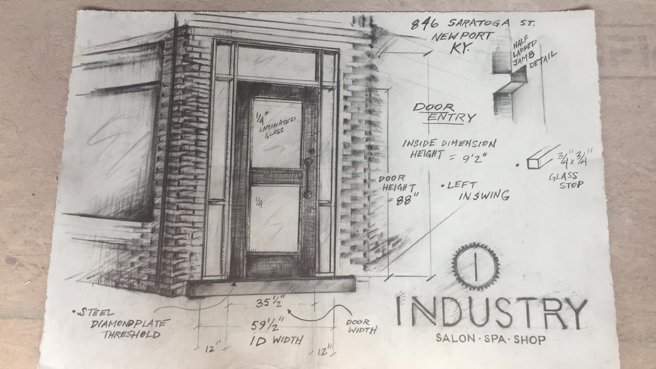 the door to Industry, 501 Salon & Spa's soon-to-be sister location
