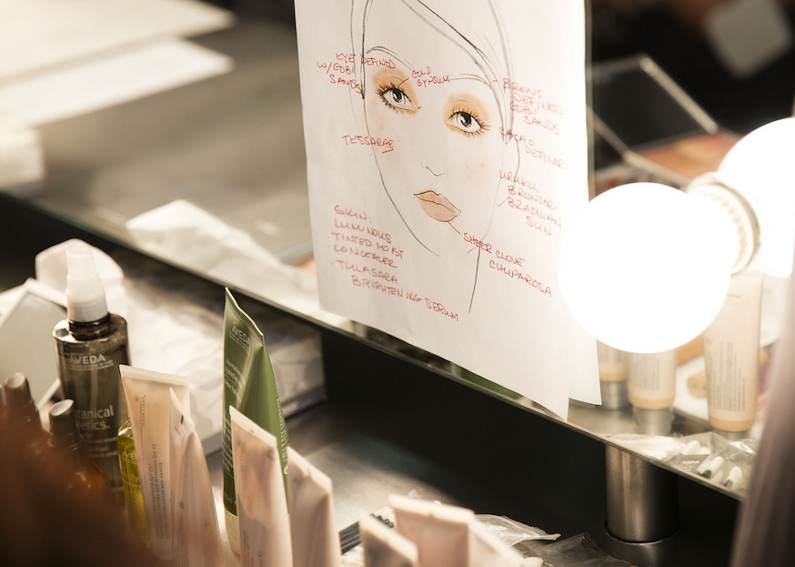 Aveda's Global Makeup Director outlines each look.