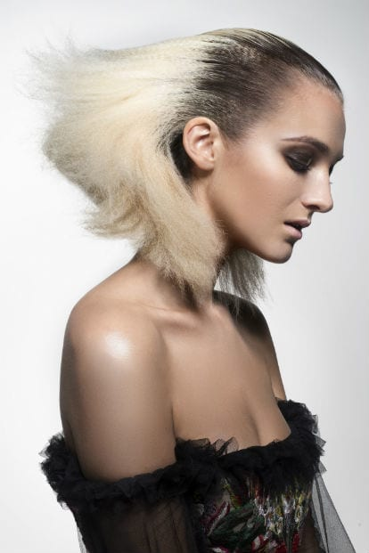 THE LOOK CREATED BY RONNIE, MUFIDE TURUS AND TAN SIEW CHIN AT THE MINNEAPOLIS PHOTO SHOOT [Source: Aveda]
