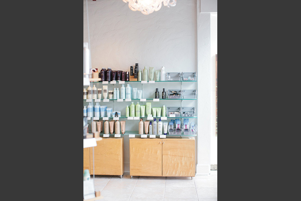 As an official Aveda Salon, Salon U sells a variety of Aveda hair and skin products. Photo by Graham Yelton.