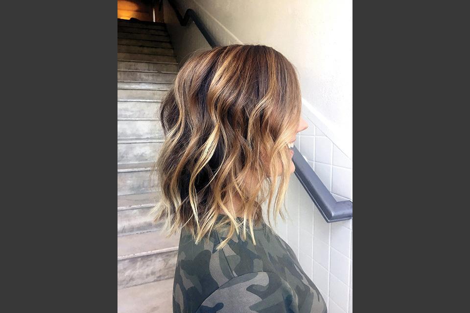 A beautiful cut and balayage color by Salon U stylist Paige Goodwin.