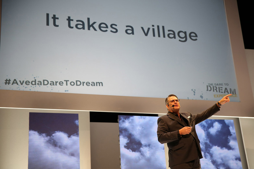 Tom Petrillo welcomed 1,000+ attendees to Dare To Dream | Courtesy of The Salon People